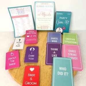 Bridal Shower Party Game Pack